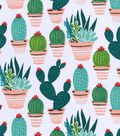 Snuggle Flannel Fabric -Potted Cacti