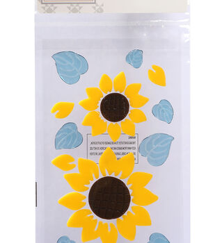 Simply Autumn Gel Clings-Sunflowers