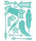 Cricut Cuttlebug Feathers & Arrows Cut & Emboss Die Set