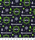 Seattle Seahawks Flannel Fabric-Holiday