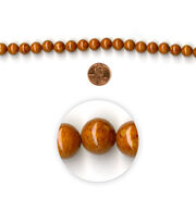 Blue Moon Strung Mountain Jade Beads,Round,Topaz Brown, , hi-res