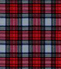 Snuggle Flannel Fabric 42\u0022-Stewart Gray Plaid