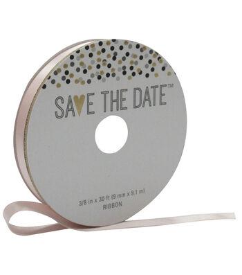 Save the Date 3/8'' X 30' Ribbon-Blush Satin