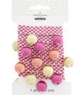 Buttercream 1 Yard Trim Decorative Ball Fringe Cream Pink Green