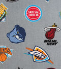 All Team Cotton Fabric -Tossed on Gray
