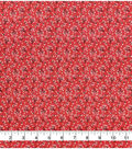 Keepsake Calico Cotton Fabric -Floral Coral