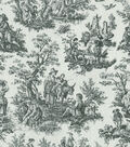 Waverly Multi-Purpose Decor Fabric 54\u0022-Rustic Toile Black