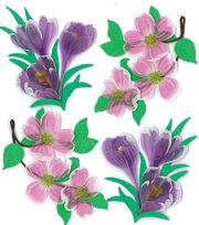 Jolee's Boutique Dimensional Spring/Easter Stickers-Dogwood/Crocus Flwrs, , hi-res