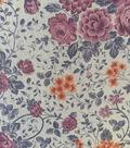 Printed Knit Mesh Fabric 60\u0022- Violet Flroal Wallpaper