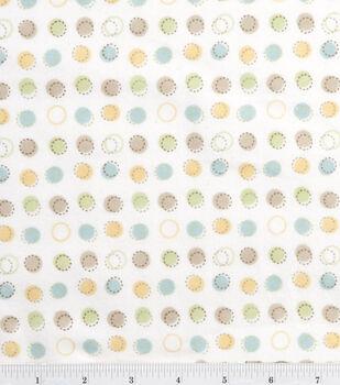 Nursery Flannel Fabric -Oh Baby Stitch Dot