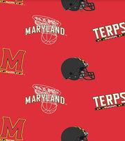 "University of Maryland Terrapins Fleece Fabric 58""-Allover, , hi-res"