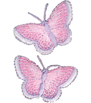 "Wrights Iron-On Appliques-Butterfly 1""X1-1/2"" 2/Pkg"