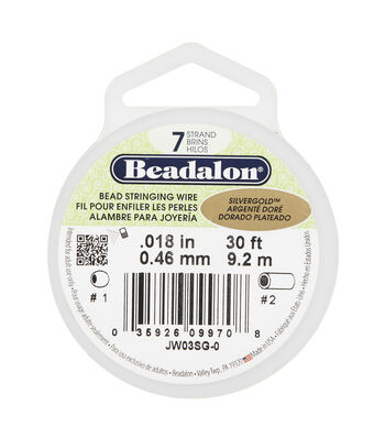 Beadalon 7-Strand Bead Silver & Gold Stringing Wire