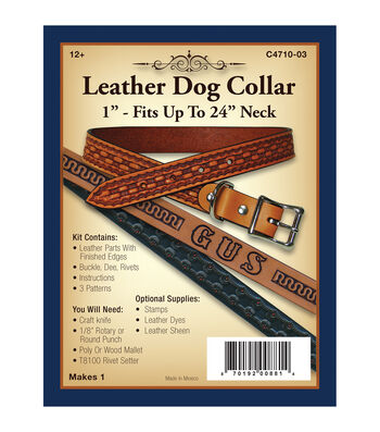 """Realeather Crafts- Leather Dog Collar 1"""""""