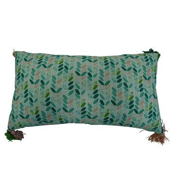 Hello Spring 10''x18'' Tassel Lumbar Pillow