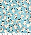 Novelty Cotton Fabric-Pretty Kitties on Mint