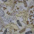 Holiday Decor Glitter Satin Fabric-Pinecones