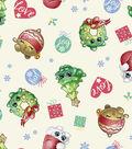 Shopkins Christmas Print Fabric -Love & Joy