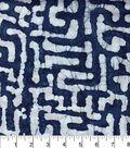 Legacy Studio Indian Batiks Cotton Fabric -Indigo Puzzle