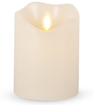 Hudson 43 3''x4'' Motion Flame LED Candle-Bisque