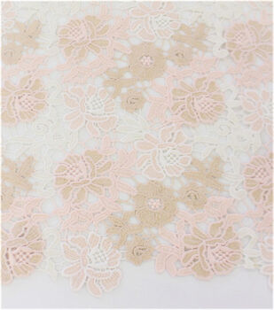 Casa Embellish Dahlia Fabric-Multi-Colored Lace