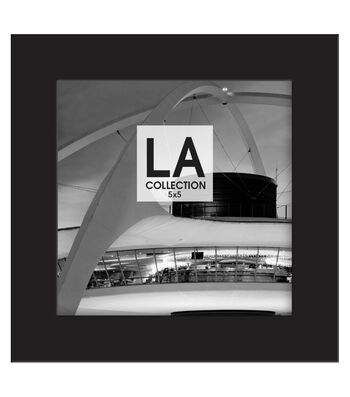 LA Collection Wood Frame 5''x5''-Black