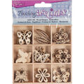Darice Finishing Accents 45 pk Wood Shapes-Butterflies