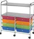 Storage Cart with 8 Drawers-Multi 31.74\u0027\u0027x14.75\u0027\u0027x35\u0027\u0027