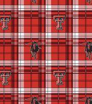 "Texas Tech University Red Raiders Fleece Fabric 58""-Plaid, , hi-res"