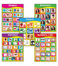 Carson-Dellosa Early Learning Charts Set of 5