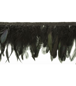 Simplicity Trims-Insert Feather Black