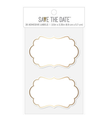 American Crafts Adhesive Labels-Gold Square