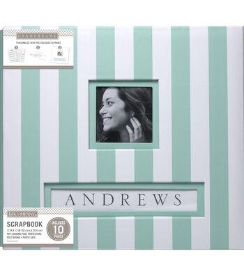 Frame-A-Name Mint Wide Stripe 12x12 Scrapbook