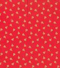 Keepsake Calico Cotton Fabric-Gold Ladybugs on Red