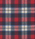 Flannel Shirting Cotton Red Beige Blue
