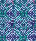 Modern Premium Cotton Print Fabric 43\u0027\u0027-Blue Blurred Squares