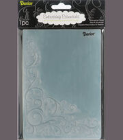 "Embossing Folder Background 5""X7""-Scroll Flourish Corner, , hi-res"