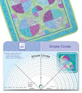 June Tailor Simple Circles Rotary Cutting Rulers-Set of 6