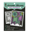 Adult Coloring Book-Hot Off The Press Awesome Blossoms