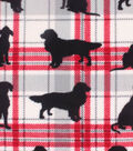 Anti-Pill Fleece Fabric 59\u0022-Plaid Dog Silhouette