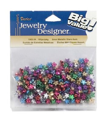 Big Value Metallic Stars Assorted-6mm