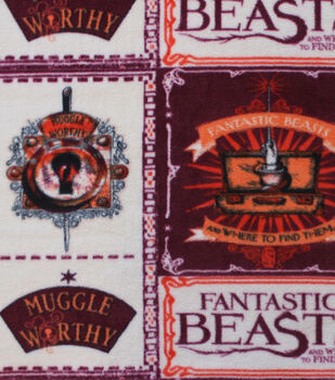Fantastic Beasts Fleece Fabric -Recruitment
