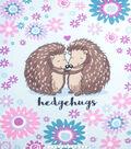 No Sew Fleece Throw Kit 48\u0027\u0027x60\u0027\u0027-Hedgehugs