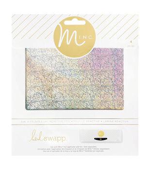 Heidi Swapp Minc 4 pk 6''x6'' Glitter Foil Sheets-Silver