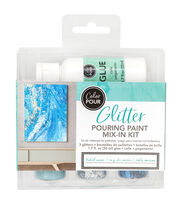 American Crafts Color Pour Glitter Mix-In Kit-Tidal Wave, , hi-res