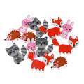 Woodland Animals Adhesive Foam Stickers