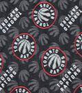 Toronto Raptors Fleece Fabric -Logo Toss