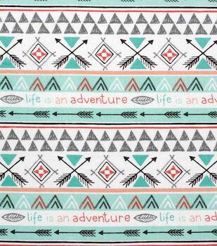 Nursery Flannel Fabric-Arrows of Adventure Patchwork