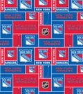 New York Rangers Fleece Fabric -Block