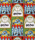 Harry Potter Cotton Fabric 44\u0027\u0027-Stained Glass Quidditch